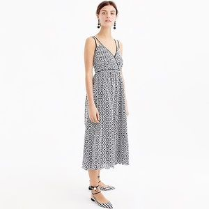 J.Crew Double Strap Midi Dress in Eyelet